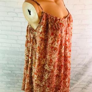 Volcom Tent Dress Size Medium Pink floral chiffon
